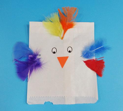 Paper Bag Bird Playgroup Sa